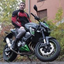 Motorradblogger auf der Z800