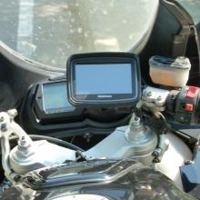 TomTom Rider an Ducati ST4