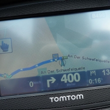 TomTom Rider Navigationsbildschirm