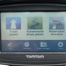 TomTom Rider Routenplanung