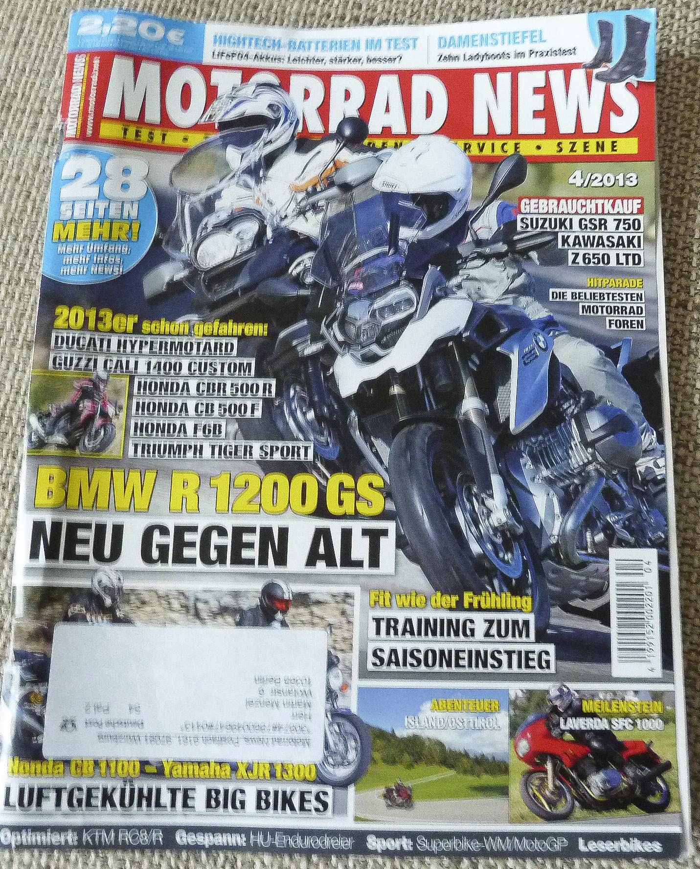 Motorrad News Titel