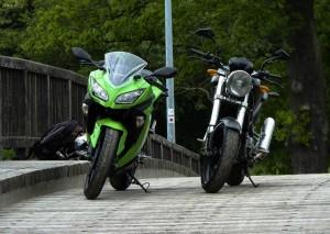 Vergleich Ninja 300 Ducati Monster