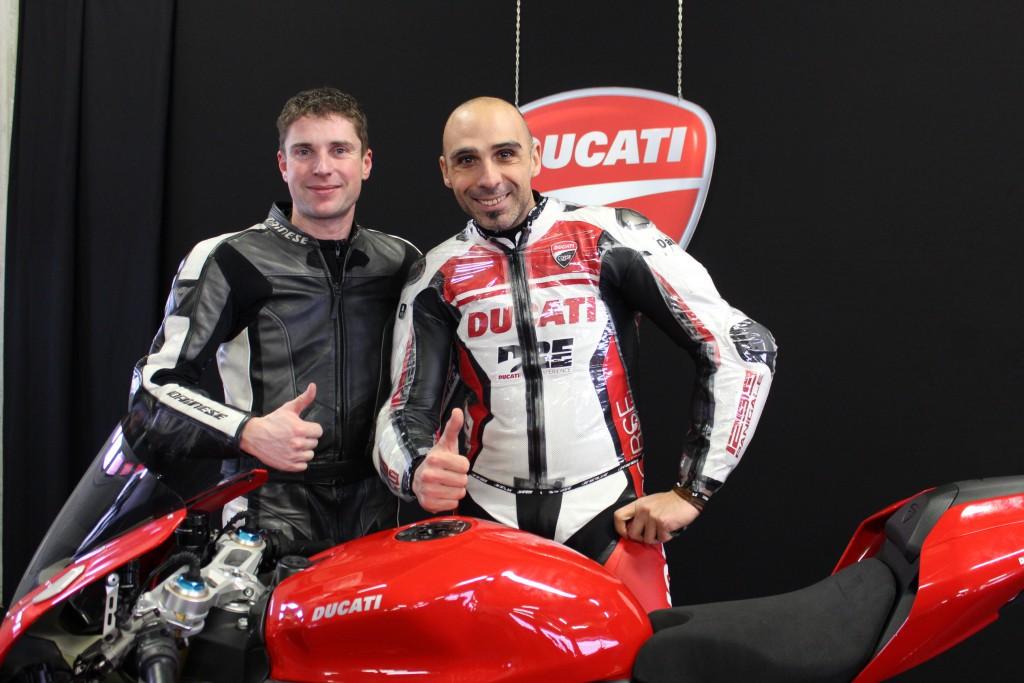 mit Alessandro Valia - Ducati Testfahrer