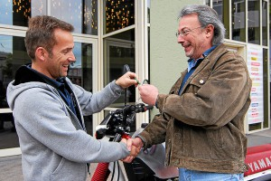 Geschafft - ein Motorrad wechselt den Besitzer