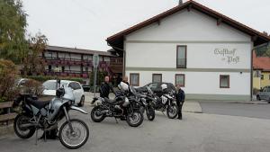 Ankunft am Bikeotel in Büchlberg